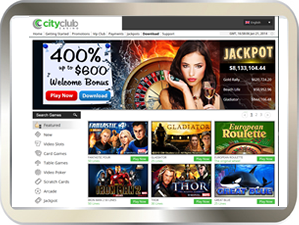 City Club Online Casino for great gaming entertainment